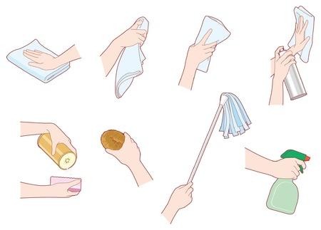 fregando: Las tareas del hogar  limpieza  Mano