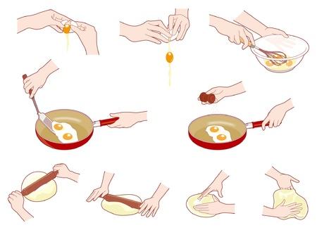 mujeres cocinando: Las tareas del hogar  cocina  Mano