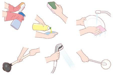 lavavajillas: Las tareas del hogar  limpieza  Mano