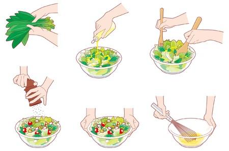 spinat: Hausarbeit  Kochen  Hand
