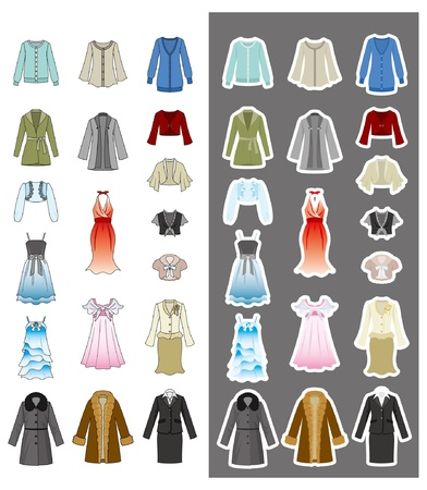 ファッション女性ハンガー  イラスト・ベクター素材