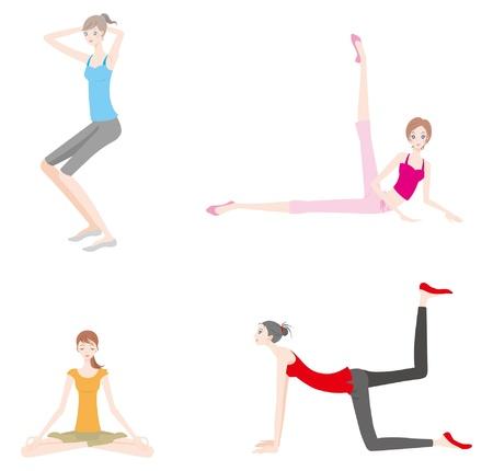 Woman / Gymnastics Stock Vector - 12495753