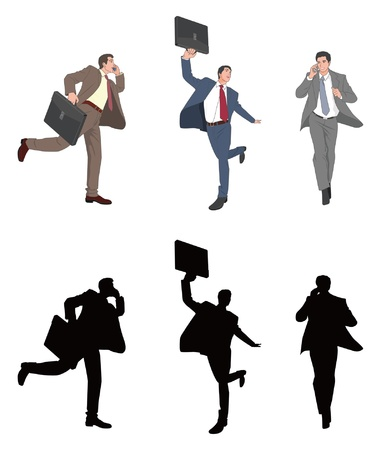 asian business people: Businessman Illustration