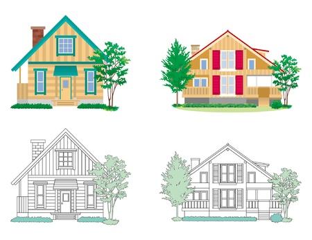 cottage garden: House