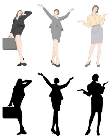 the whole body: Businesswoman
