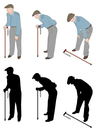 health elderly: The old man Illustration