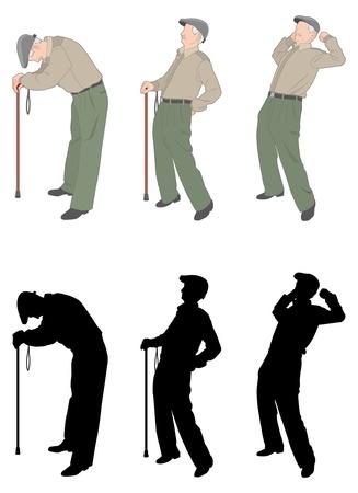 fatigue: The old man Illustration