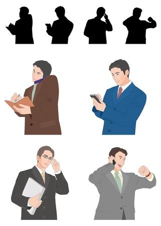 dignity: Businessman Illustration