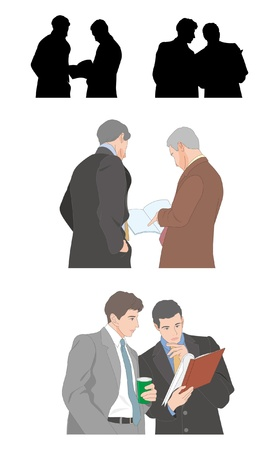 backwards: Businessman Illustration