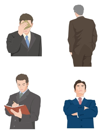 backview: Businessman Illustration