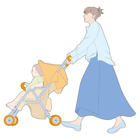 Childcare  Woman Vector