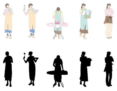 Housework / Woman  イラスト・ベクター素材