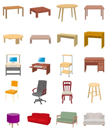 stools: Furniture Illustration