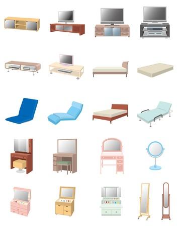 bedding: Furniture Illustration