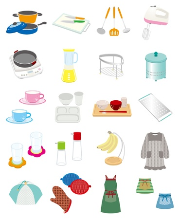fartuch: SprzÄ™t kuchenny Ilustracja
