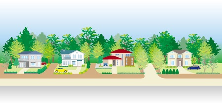 Woonwijk Vector Illustratie