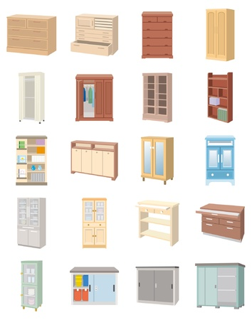 cleaning up: Furniture Illustration