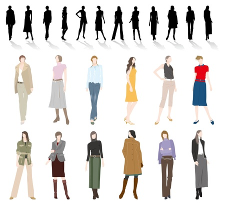 woman shadow: Fashion  Woman Illustration