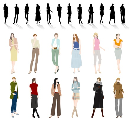 shirts: Fashion  Woman Illustration