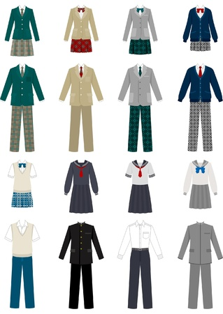 convivencia escolar: Estudiante  uniforme escolar