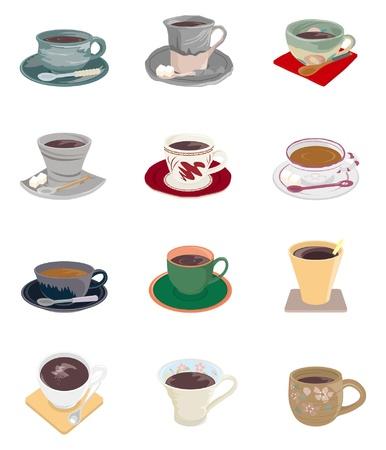 tea cups: Drink  Coffee or Tea Illustration