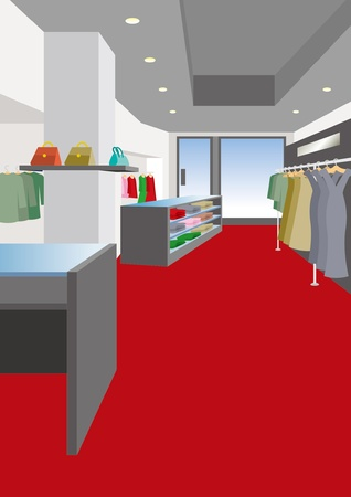 Interior / Boutique / Woman Vector Illustration