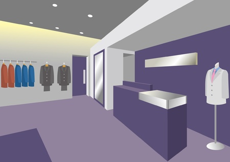 Interior  Boutique  Man Vector