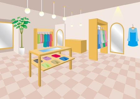 Interior  Boutique  Woman Vector