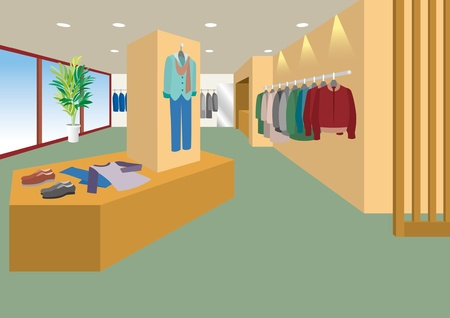 retail shop: Interior de estilo boutique   Hombre