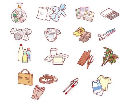 Reciclaje / Basura Ilustración de vector