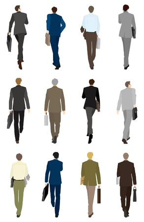 person walking: Businessman  Back
