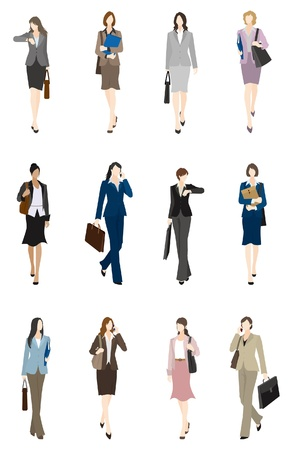 recruit suit: BusinessWoman  Front