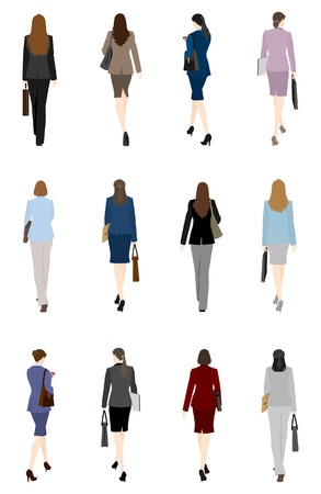 BusinessWoman / Back Stock Vector - 13946918