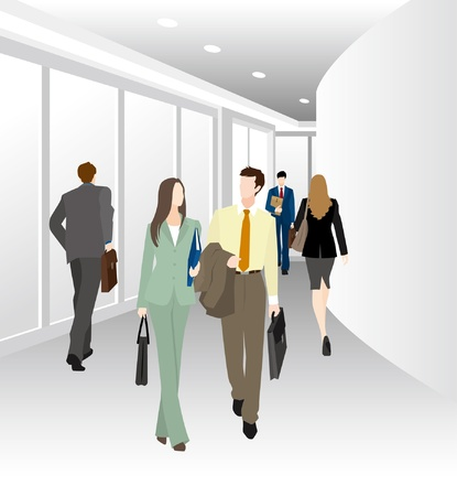 new recruits: Image of business  Corridor