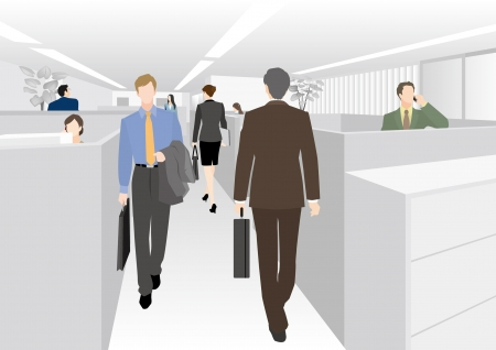 busy office: Image of business  Office Illustration