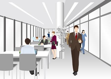 trabajo en oficina: Imagen de la empresa  oficina  tiempo de descanso Vectores