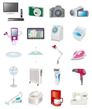 electrical appliance: Aparatos el�ctricos Vectores