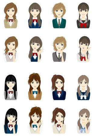 kollegen: Girl Face Illustration