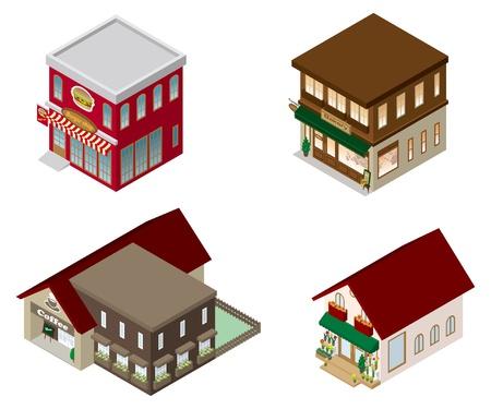 Building / Cafe / Shop Stock Vector - 15717235