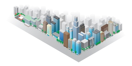 environmental issues: Illustration  Townscape