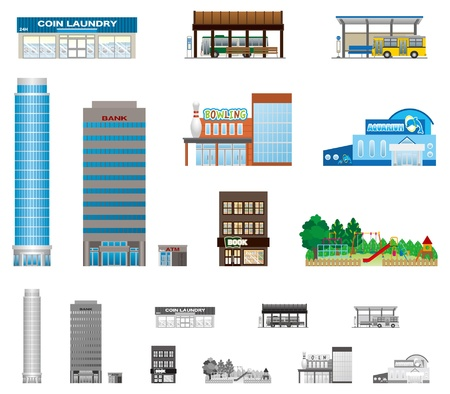 commercial: The building of the city Illustration