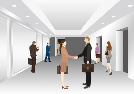 Image of business  Lobby Vector