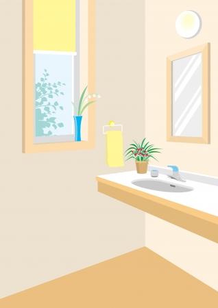 wash basin: Lavatory Illustration