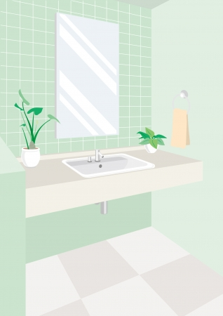 clean room: Lavatory Illustration