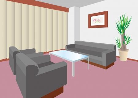 Business / Meeting room Vector Illustration