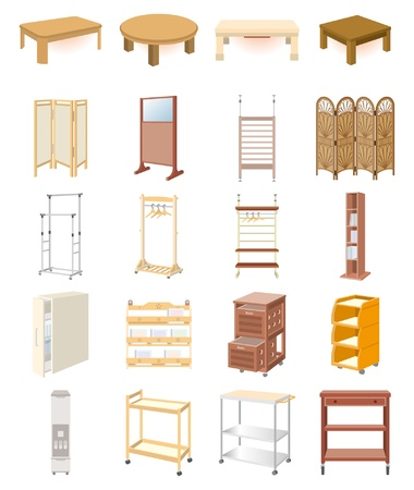 desk tidy: Furniture Illustration