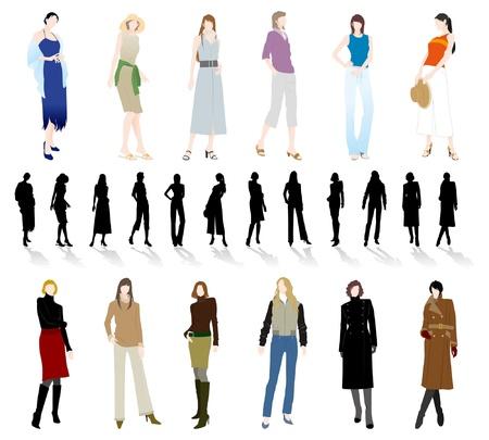 businesswoman skirt: Fashion  Woman Illustration