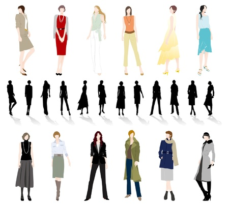 autumn fashion: Fashion  Woman Illustration