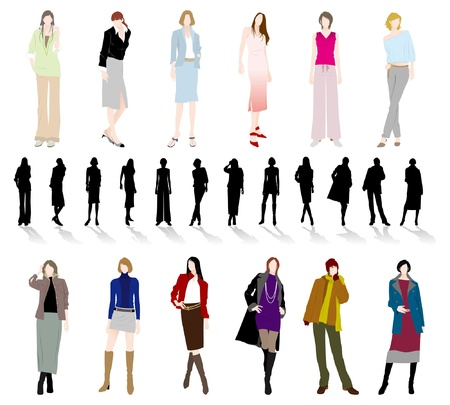 white coats: Fashion  Woman Illustration