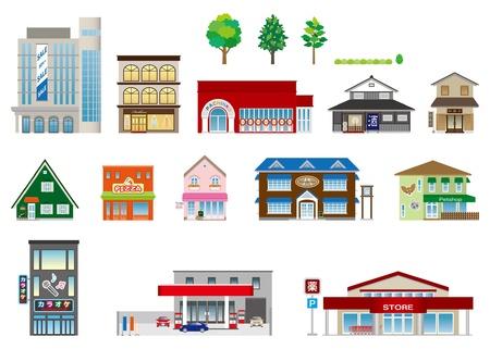 Bâtiment / shop / d'affaires Vecteurs